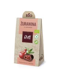 Bio żurawina w czekoladzie gorzkiej 50g Doti