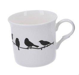 Kubek porcelanowy PRINCESS BIRD 300ml biały