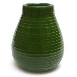 Matero Ceramiczne Calabaza ciemnozielone w prążki