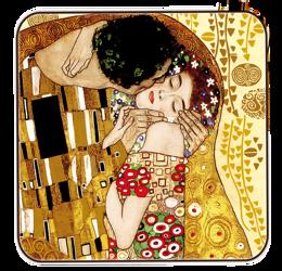Podkładka korkowa - G.Klimt THE KISS POCAŁUNEK