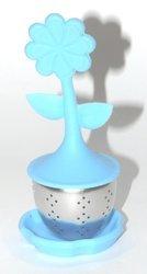 Zaparzacz do herbaty KWIATEK niebieski