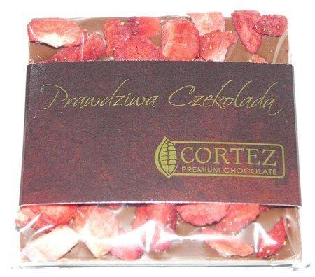 Cortez mini-czekolada mleczna z Truskawkami 35g