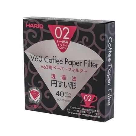 Hario filtry papierowe do dripa V60-02 40szt