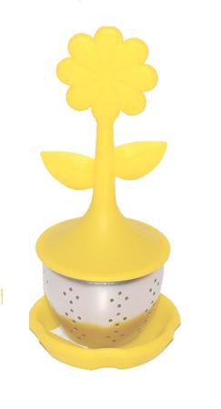 Zaparzacz do herbaty KWIATEK żółty