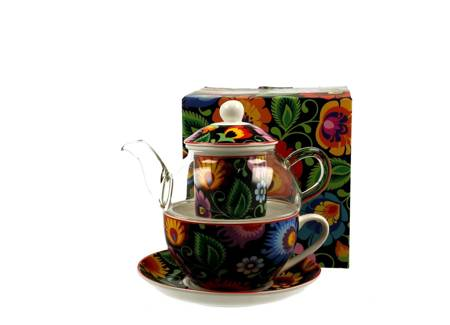Zestaw TEA FOR ONE Filiżanka + Imbryk ETNIC Duo